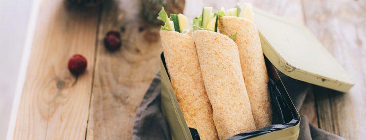 Gezond aan tafel - Recept - Wraps voor in de broodtrommel