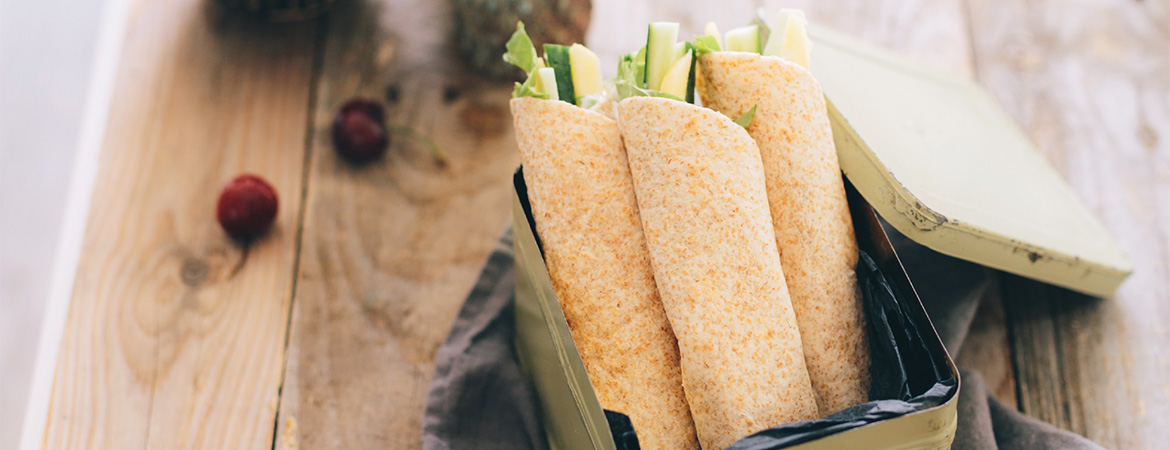 Wraps voor in de broodtrommel