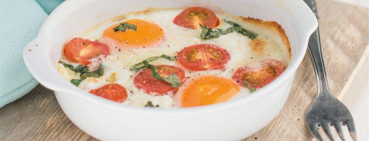 Eieren met geitenkaas uit de oven - Gezond aan tafel - recept