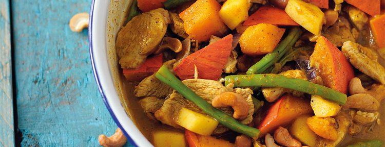 Kipcurrie met pompoen - Gezond aan tafel - recept
