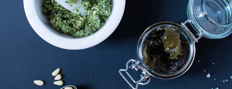 Pesto met kombu - Gezond aan tafel - recept
