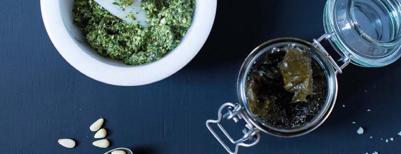 Pesto met kombu