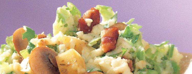 Andijviestamppot met champignons en komijnekaas - Gezond aan tafel - Recept