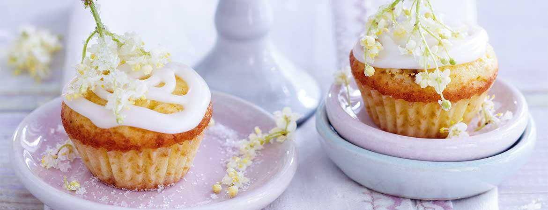 Cupcakes met vlierbessen