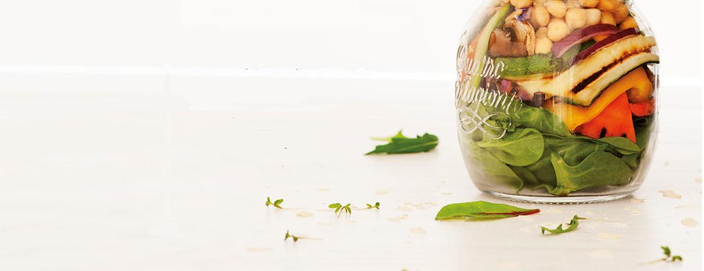 Salade met gegrilde groenten