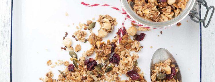Suikervrije granola - Gezond aan tafel - recept