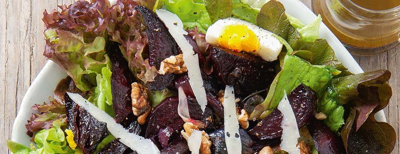 Salade geroosterde bieten