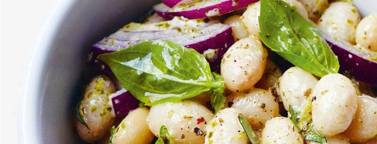 Salade witte bonen met pesto - Gezond aan tafel - recept