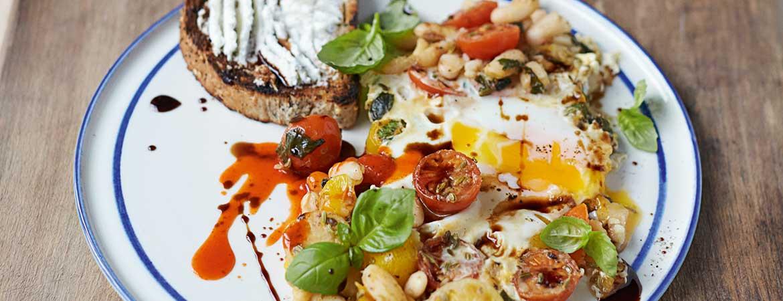 Gebakken eieren op toast van Jamie Oliver
