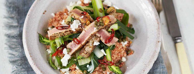 Couscous met tonijn en groenten van Jamie Oliver - Gezond aan tafel - recept