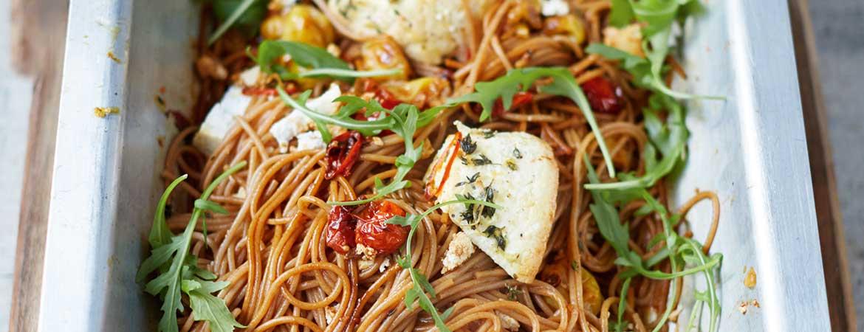 Speltspaghetti met ricotta van Jamie Oliver