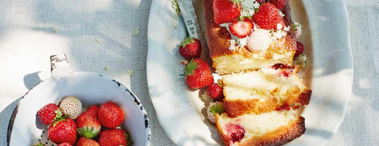 Aardbeien loaf