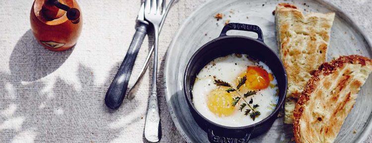 Eieren uit de oven met pimpernel - Gezond aan tafel - recept