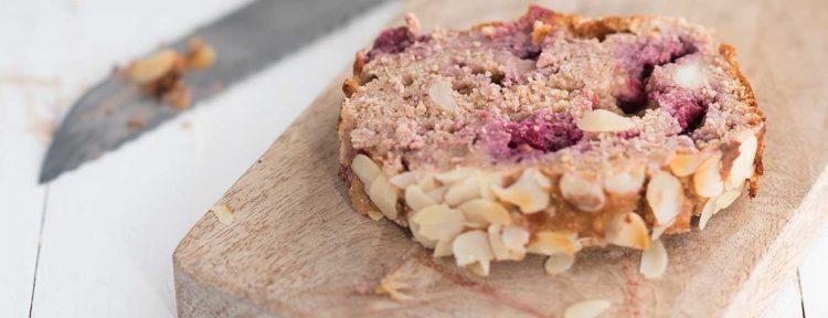 Kwarkbrood frambozen van I love health - Gezond aan tafel - recept