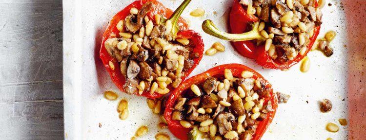 Gevulde paprika met champignons - Gezond aan tafel - recept