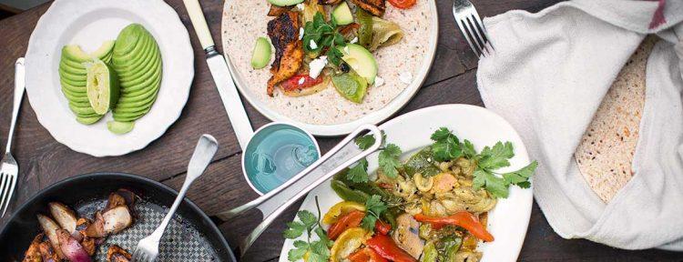 Kip fajita's van Jamie Oliver - Gezond aan tafel - recept