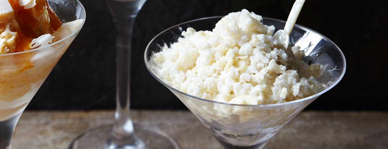 Paleo kokos amandel ijs
