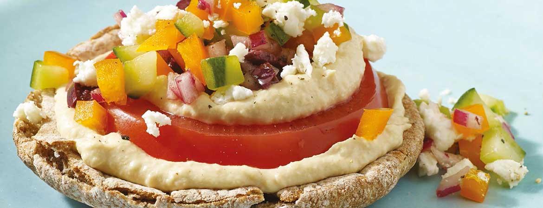 Pita pizza met Griekse salade