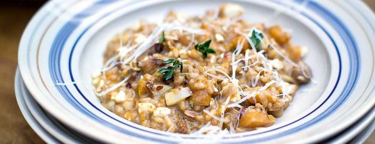 Risotto met pompoen en worstjes - Gezond aan tafel - recept