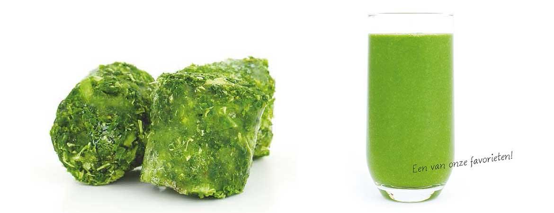 Smoothie met spinazie en boerenkool