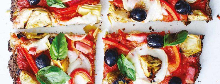 Broccoli paleo pizza - Gezond aan tafel - recept