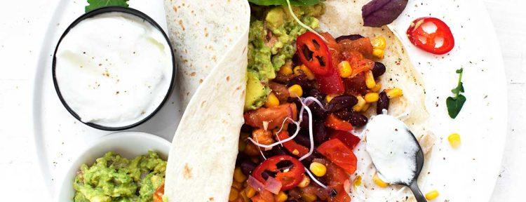 Burrito's met kidneybonen, mais en paprika - Gezond aan tafel - recept