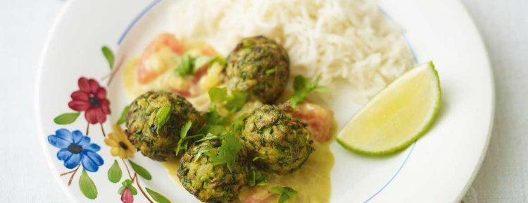 Courgetteballetjes in een gekruide saus - Gezond aan tafel - recept