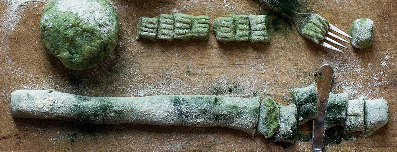 Gnocchi met zeewier in spinazie roomsaus