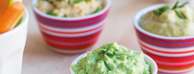Groentestengels met dips