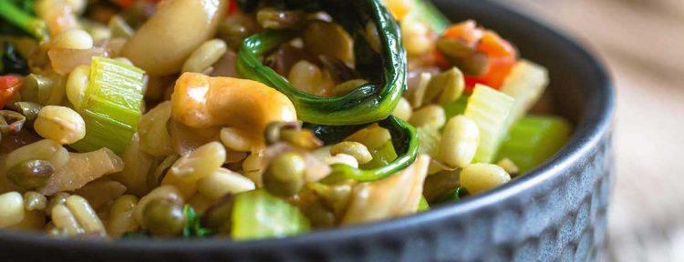 Mungbonen met champignons en bleekselderij - Gezond aan tafel - recept