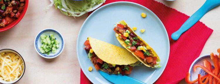 Vegetarische taco's - Gezond aan tafel - recept
