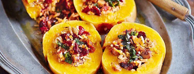 Gevulde pompoen uit de oven - Gezond aan tafel - recept