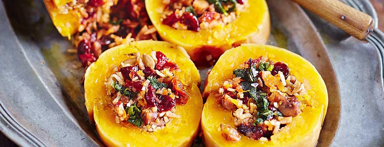 Gevulde pompoen uit de oven van Jamie Oliver