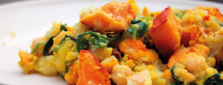 Kikkererwten met aardappel en pompoen - Gezond aan tafel - recept