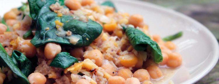 Kikkererwten met spinazie - Gezond aan tafel - recept