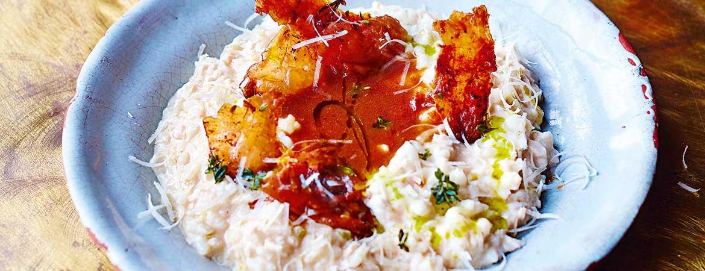 Risotto met kalkoen en zoete prei van Jamie Oliver