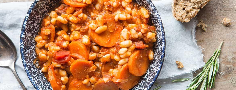 Vegetarische cassoulet (stoofpotje)