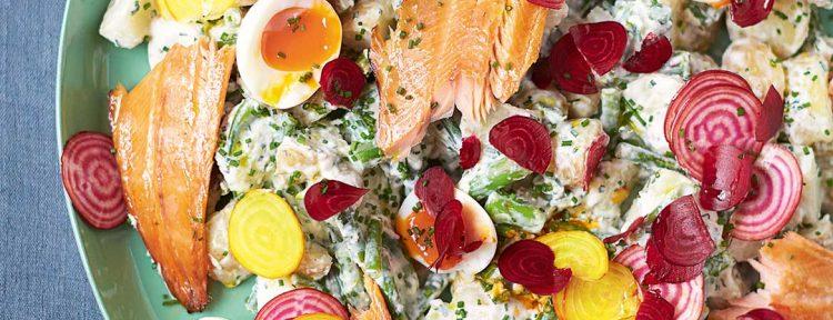 Forelsalade van Jamie Oliver, met krieltjes, bietjes en zachtgekookt ei - Gezond aan tafel - recept