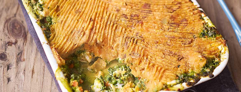 Zalm en garnalen taart van Jamie Oliver