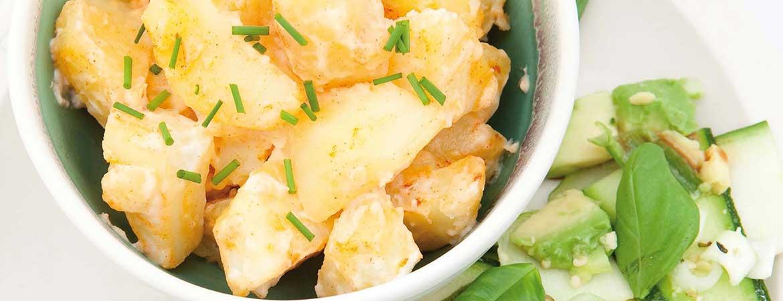 Aardappelsalade met courgettesalade