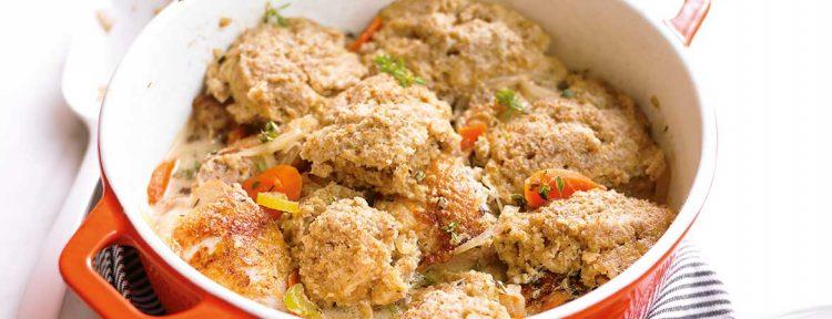 Kip met meelballetjes (Broodbuik) - Gezond aan tafel - recept