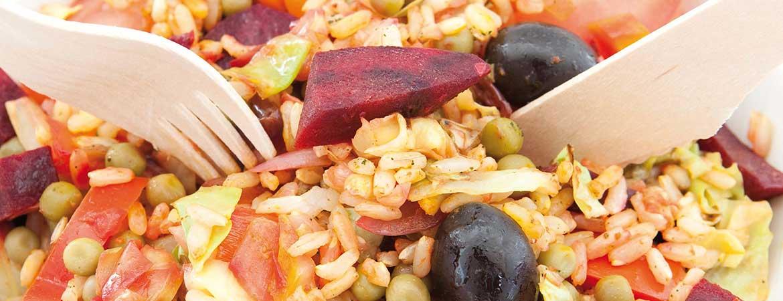 Paella met groenten (vegan)