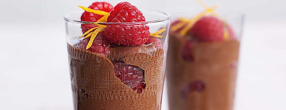 Chocolade sinaasappel mousse