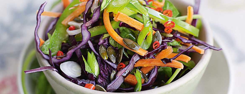 Knapperige drie kleuren salade