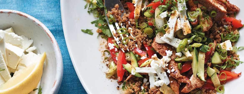Roerbakschotel met kip en quinoa