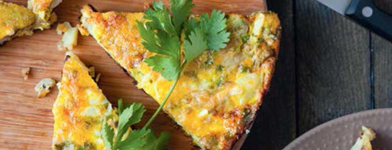 Tortilla met koriander en salade van kiemen (anti-diabetes)