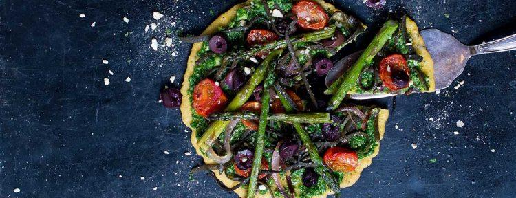 Zeewier socca pizza - Gezond aan tafel - recept