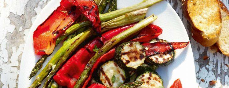 Gegrilde groente van de barbecue - Gezond aan tafel - recept