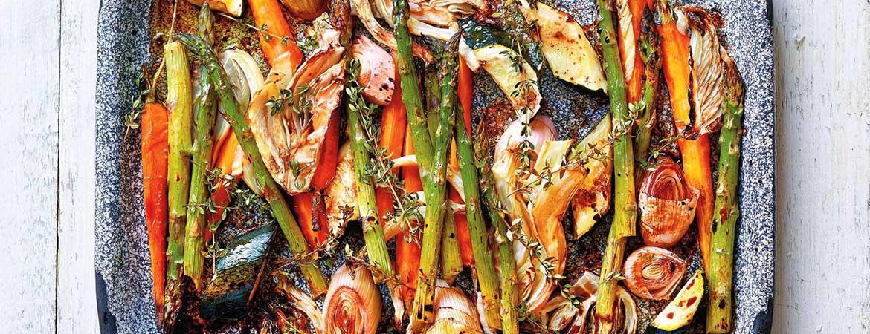 Groenten uit de oven met wittetruffelzout (Paleo)