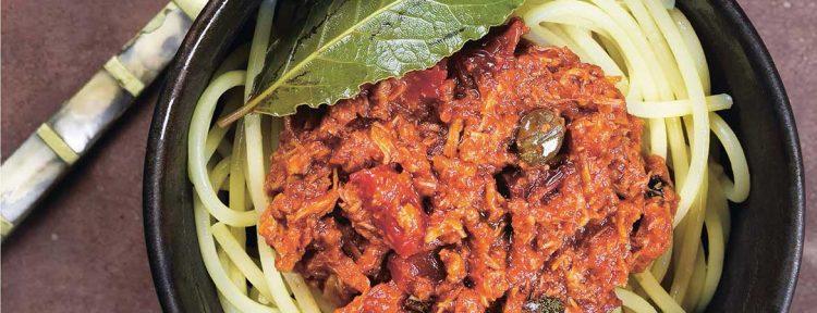 Spaghetti met tonijn, kappertjes en olijven - Gezond aan tafel - recept